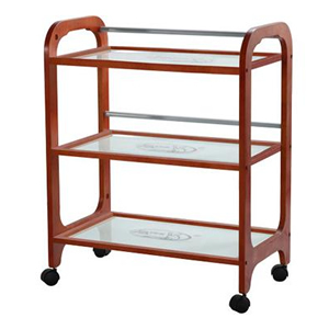 Direct Salon Supplies Wooden Spa Trolley