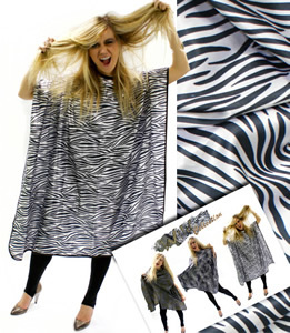 Hair tools zebra print gown 163 10 29 ex vat zebra print gown made from
