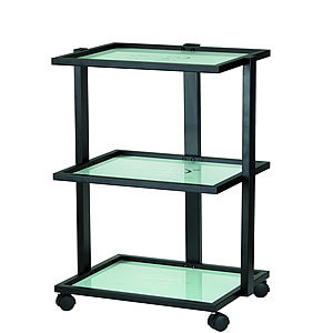 Direct Salon Supplies 3 Black Tier Beauty Trolley