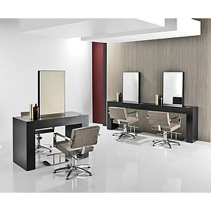 Rem oasis hair salon furniture package for Beauty salon furniture packages