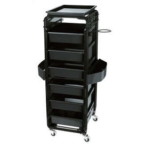 Direct Salon Supplies Black Control Trolley