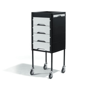 Direct Salon Supplies Secret Black and White Beauty Trolley