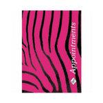 Agenda 6 Col Pink & Black Zebra Appointment Book.