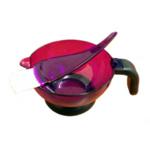 Direct Salon Supplies Purple Transparent Tint Bowl & Brush