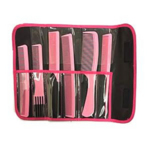 Combank Pink 6 Piece Carbon Comb Set