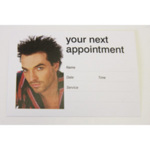 Direct Salon Supplies Male Appointment Cards