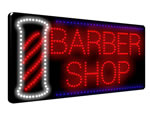 Direct Salon Supplies LED Barbers Shop With Pole Sign