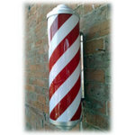 Direct Salon Supplies Static Illuminated Barbers Pole
