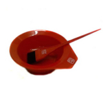 Pro Tip Red Tinting Bowl And Brush