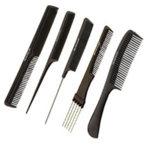 Head Jog Black 5 Combs Set