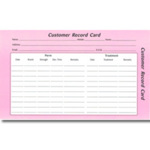 Direct Salon Supplies Customer Record Cards Pack 100