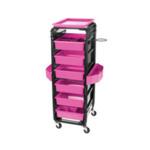 Direct Salon Supplies Control Trolley Black/Pink