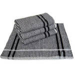 Majestic Black & White Towels Pack 12