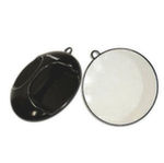 Hair Tools Black Round Mirror And Wall Bracket