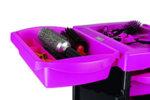 Direct Salon Supplies Milano Pink And Black Salon Trolley