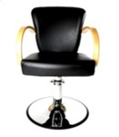 Direct Salon Supplies Palermo Hydraulic Styling Chair with Lightwood Arms