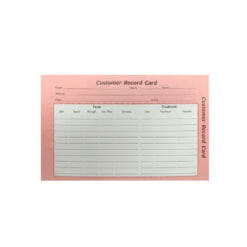 Customer Record Cards Pack 100