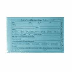 Direct Salon Supplies Electrolysis & Epilation Record Cards Pack 100