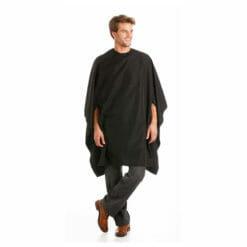 Artisan Gown In Microfibre Material Black
